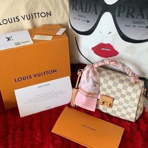 Louis Vuitton Damier Azur Croisette Handbag 🌸